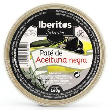 Picture of BLACK OLIVE PATE - GLUTEN FREE 140 GR (SPAIN)
