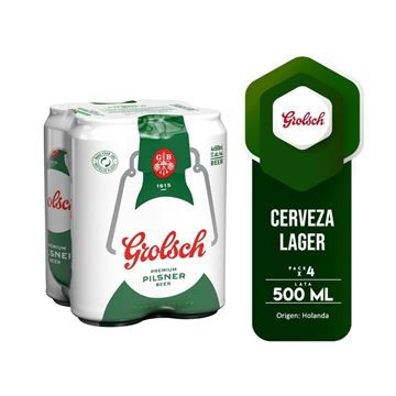 Picture of GROLSCH FOUR PACK CAN 500 ML (HOLLAND)