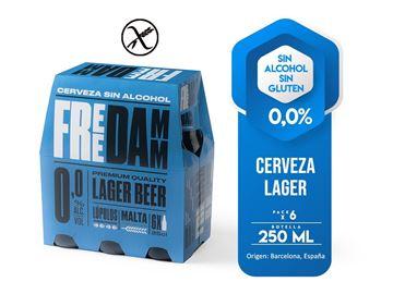 Imagen de FREE DAMM  0,0% ALCOHOL - SIN GLUTEN  SIX PACK 250 ML (ESPAÑA)