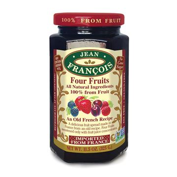 Picture of FOUR FRUIT JAM 325 GR - NO ADD SUGAR AND WITHOUT GLUTEN (FRANCE)