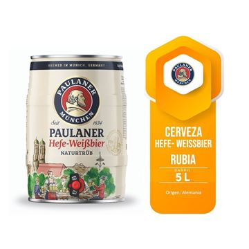 Picture of PAULANER WHEAT BARREL 5 LTS (GERMANY)